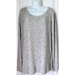 Athleta Marled Gray Long Sleeve Cut Out Sweater